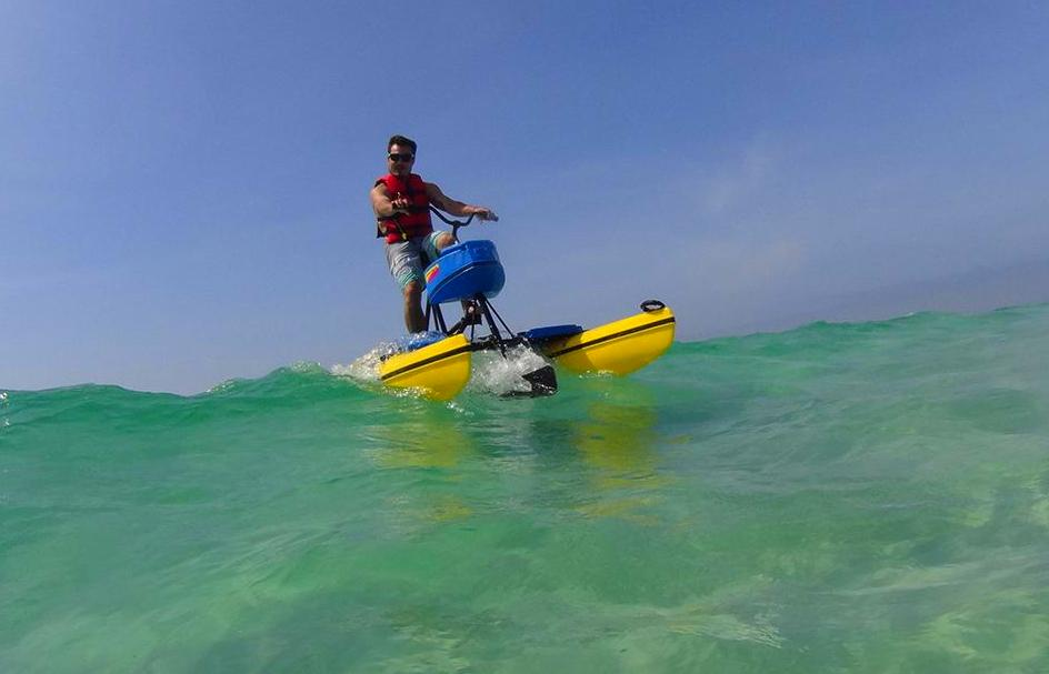 Riding the waves on a Hydrobike
