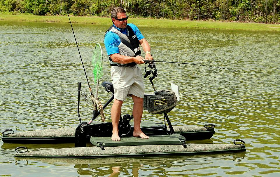 Hydrobike water bike pontoons water bikes by hydrobike for Fishing pedal boat
