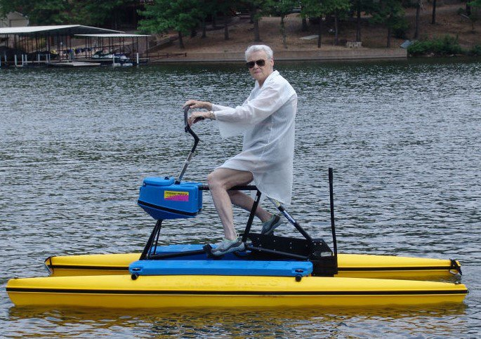 Senior enjoying a Hydrobike