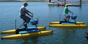 Seniors on Hydrobikes