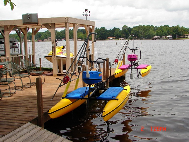 Dave Trusty's Hydrobikes on the Lift